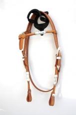 EE Tack Showkopfstück aus Herman Oak Leather