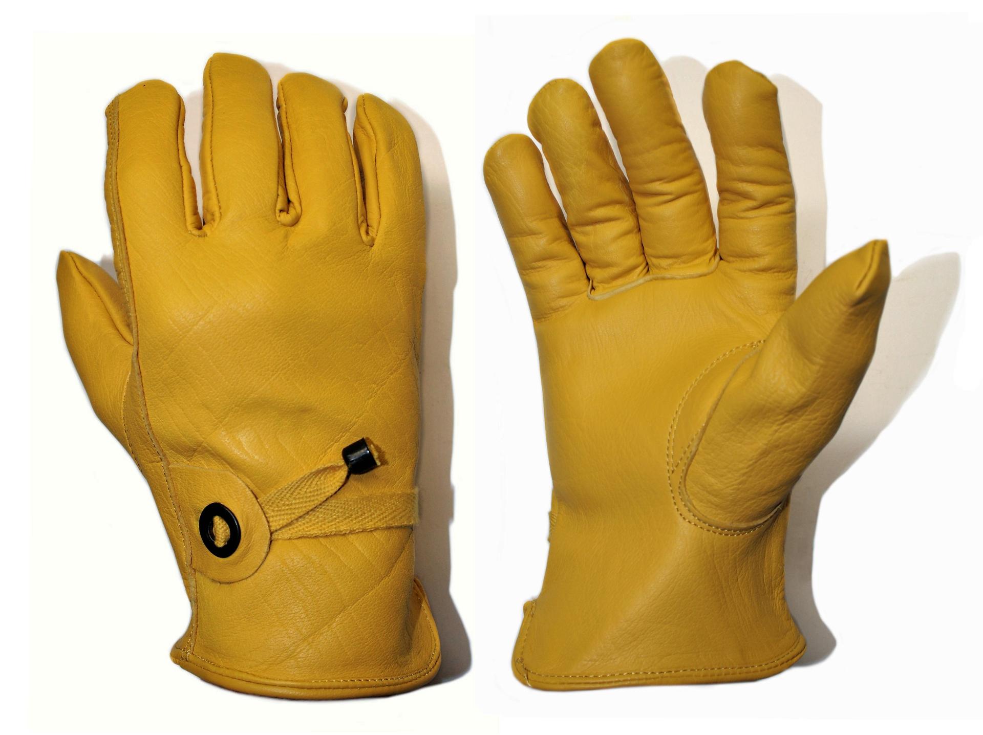 gelb Leder Handschuhe Leder-Arbeitshandschuhe Arbeitshandschuhe ungefüttert