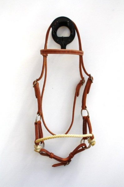 Sidepull Harnessleder Single Rope Noseband