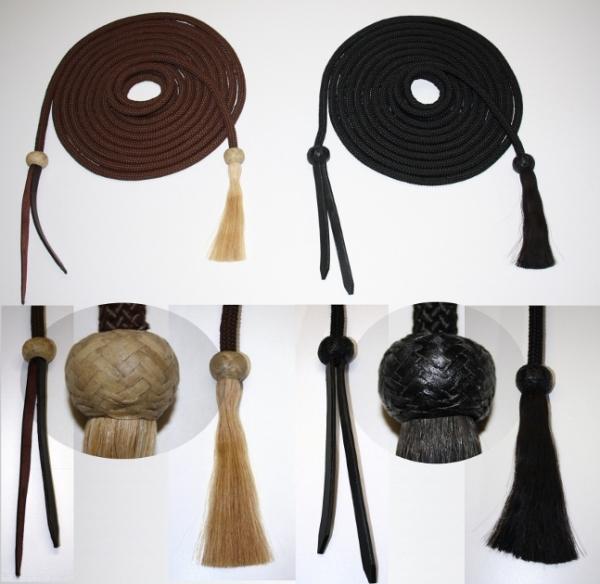 Nylon Mecate mit Lederende und Horsehairtassel