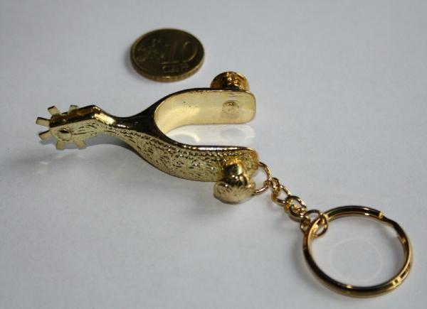 Schlüsselanhänger Sporen gold