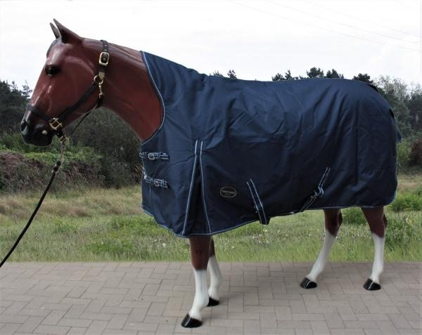 Tough Horse Turnout Winterdecke Half Neck navy blau 150g  1200D