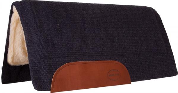 Mustang Solid Navajo Wool Pad navy blau