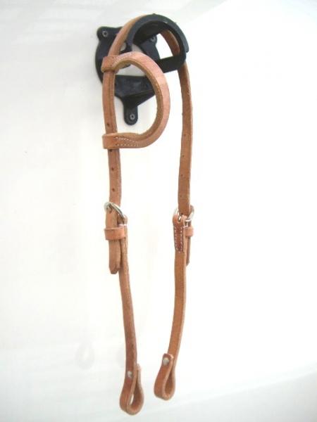 EE Tack Harness Einohr Kopfstück Herman Oak Leather
