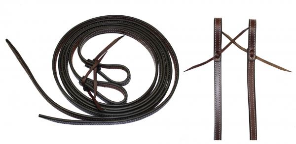 EE Tack - Latigo Reins - Fully Stitched Reins (genähte Zügel) - 5/8''Länge