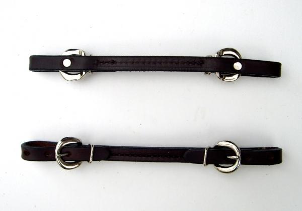 BCL Kinnriemen Harness Leder dark oiled