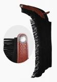 Profi Westernchaps Showchaps mit Lederbesatz schwarz