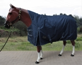 Tough Horse Turnout Winterdecke Half Neck navy blau 100g  1200D