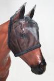Fliegenmaske mit Ohren für Pferde schwarz