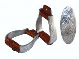 Aluminium Show Steigbügel graviert gepolsterter Tritt