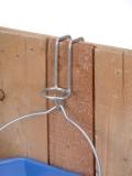 Eimerhalterung zum Einhängen Stalltür