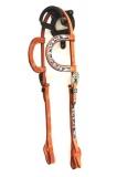 Premium Quality Doppel-Einohr Kopfstück Wicket & Craig Leather