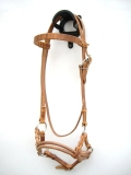 Sidepull Harnessleder Double Round Leather Noseband