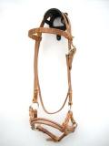 Sidepull Harnessleder Double Round Leather Noseband