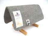 Filzunterlage für Westernpad aus Wollfilz Padschoner grau