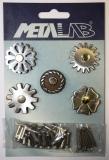 Sporenrädchen Set 2 von Metalabs aus Edelstahl