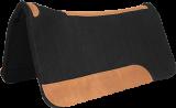 Mustang Filz Westernpad schwarz mit Lederbesatz