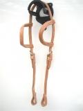 EE Tack  Harness Kopfstück aus Herman Oak Leather - Doppeleinohr