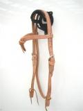 EE Tack Harness Kopfstück aus Herman Oak Leather mit Futurity Stirnband