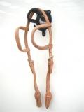 EE Tack Harness Kopfstück aus Herman Oak Leather - Doppeleinohr - Quick Change