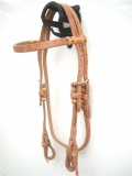EE Tack Harness Kopfstück aus Herman Oak Leather - Stirnband - Quick Change