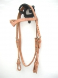 EE Tack Harness Kopfstück aus Herman Oak Leather - V -Stirnband - Quick Change