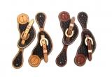 Western Sporenriemen zweifarbig aus US Leder AD-156