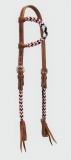 EE Tack Showkopfstück mit Perlen AD-141/132 Design 1022 Harnessleder
