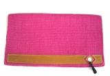 Showblanket mit Lederbesatz und Tassel in Pink