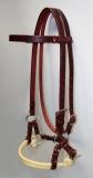Sidepull Harnessleder Double Rope Noseband aus Latigo Leder