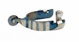 FG Roper Westernsporen Blue Steel mit Silber