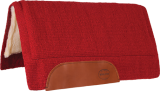 Mustang Solid Navajo Wool Westernpad rot
