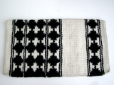 TexMex New Zealand Wool Show Blanket  beige schwarz