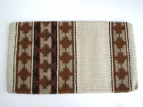 TexMex New Zealand Wool Show Blanket - beige / braun 36 x 34