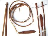 EE Tack - Flat Harness Romal Reins mit Rohaut Verzierungen
