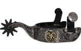 FG Westernsporen- Engraved with Cross Concho - #236125