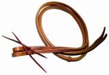 BCL Herman Oak Leather Reins Westernzügel N-Stitched doppelt genäht 16mm x 240cm