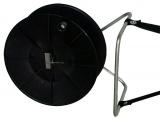 Drahthaspel mit Tragegestell, 500m schwarz