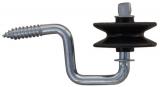 Eck-Isolator Rolle, drehbar (Holzgewinde) Stk.