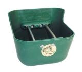 Fohlentrog mit verstellbarem Absperrgitter 7 Liter grün