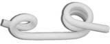 Kunststoffösenisolator für Rundpfähle bis 19mm 10 Stück