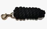 Anbindestrick schwarz Baumwolle mit Boltsnap Karabiner 300cm